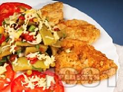 Панирани вегетариански мариновани соеви шницели - снимка на рецептата